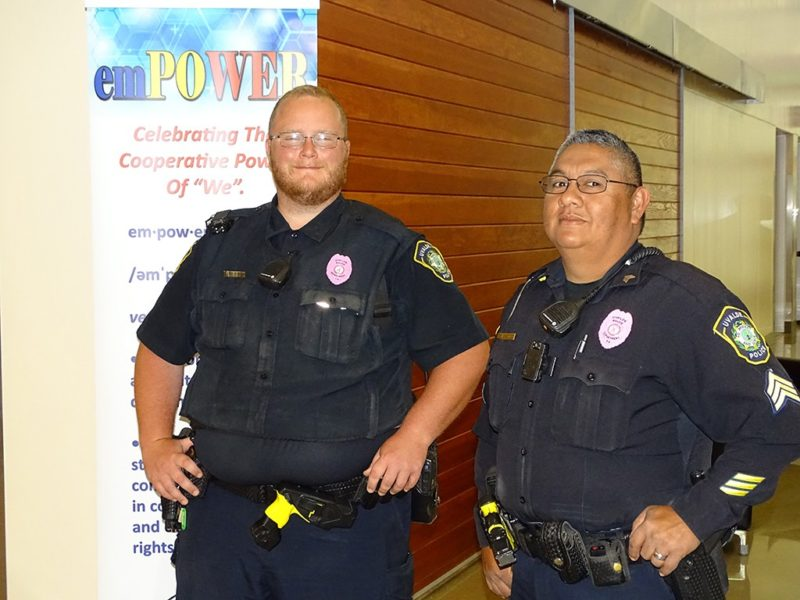 police officers smiling