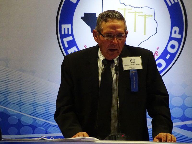 William speaking at annual meeting