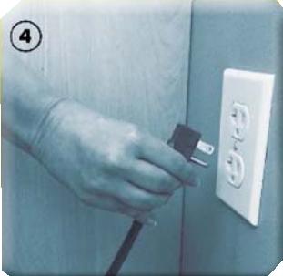 plug in the refrigerator